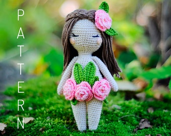 Crochet amigurumi forest nymph fairy doll pattern chart