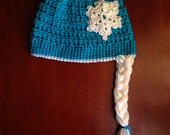 ELSA Hat - Disney Winter Girls Crochet Hat with Braid