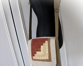 handmade shoulder patchwork bag,handmade messenger bag, shoulder bag, hand bag,quited bag