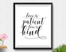 Unique Love Is Patient Love Is Kind Related Items Etsy