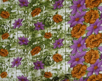 """White Color Floral Printed Pattern Indian Designer Cotton Fabric 42"""" Wide Sewing Crafting Dress Making Apparel Fabric By 1 Yard ZBC5294"""