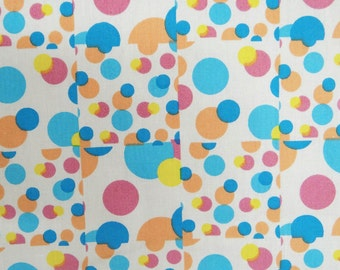 """Decor Fabric, Polka Dots, White Fabric, Curtain Fabric, Home Decoration, 44"""" Inch Cotton Fabric By The Yard ZBC1009"""