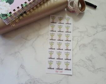 18 Yoda Inspired Coffee Stickers