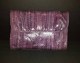 J. Renee Purse Purple and Snake Skin Shoulder Bag