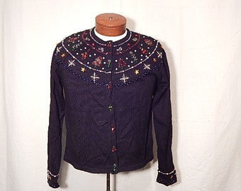 SALE 50% Off UGLY CHRISTMAs SWEATEr XL Extra Large Simple Snowflake Design
