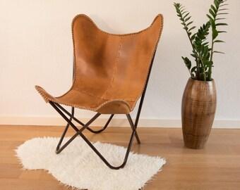 Butterfly Chair Cognac