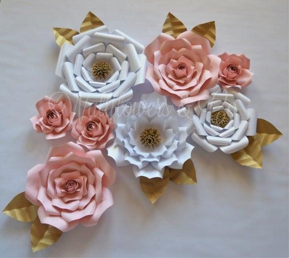 Paper Flowers Large Paper Flowers Wall Art Home Decor