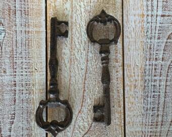 Key, Iron Key, Wall Decor, Rustic