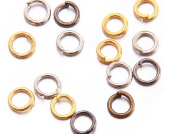 Bulk 100 Mixed Jump Rings 4mm 5 Colours | 10-Zn