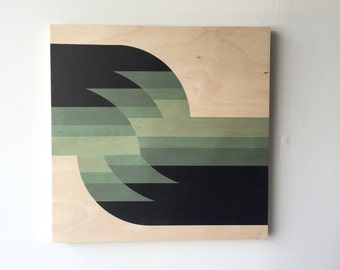 geometric art, mid century modern art, wood art, minimal art, abstract art, waves art, abstract wall art print, geometric print on wood
