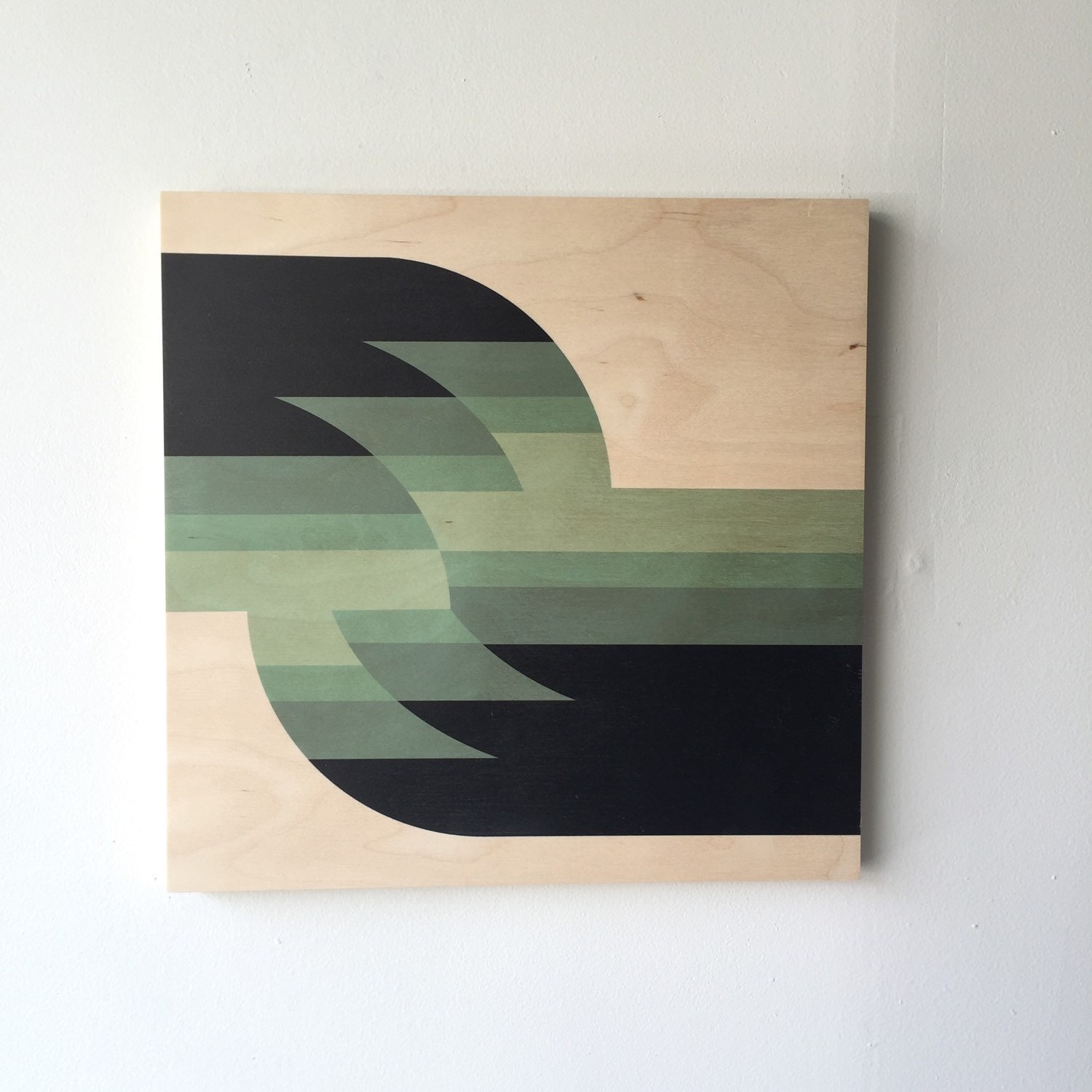 Shift mid century modern wall art print on wood geometric for Minimal art wall