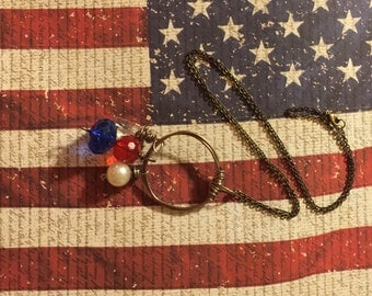 Red White & Blue Charm necklace