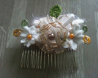 8cm/4cm-wedding hair comb -bunch of flowers handmade
