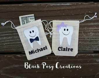 Tooth Fairy Bag Pouch Personalized