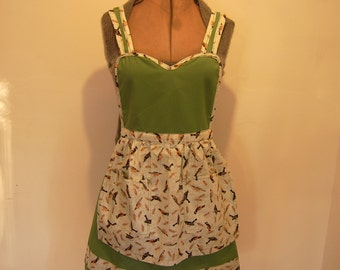 Cute Bird Apron, For The Bird Lover, Hand Crafted