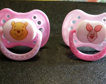 Winnie the pooh or piglet reborn pacifier. magnetic or putty