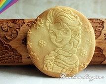 Frozen theme Engraved rolling pin,Frozen cookie mold,Frozen cookies,Frozen cookie cutter,Elsa cookies,Anna cookies,Olaf cookies,cutters