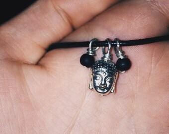 Leather Buddha Necklace