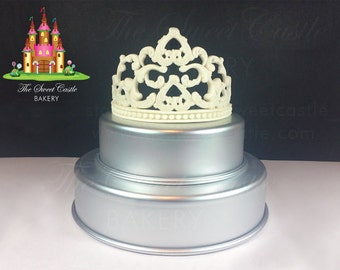 3D Edible Fondant Princess Tiara/Crown Cake Topper