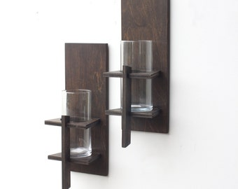 Wall Sconces (Pair)   Rustic Decor, Candle Sconces, Rustic Wall Sconce, Part 41
