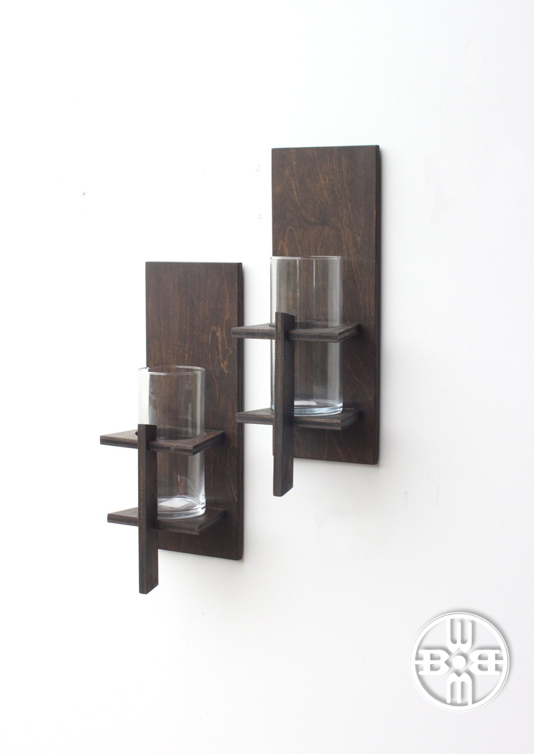 Wall sconces pair rustic decor candle sconces rustic - Decorative wall sconce ...