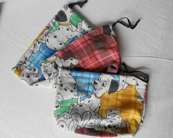 Medium 101 Dalmatians Drawstring Pouches