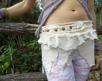 Short Skirt White Lace...Fantasy