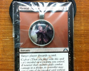 Mental Vapors - MtG Necklace Made from Actual Card