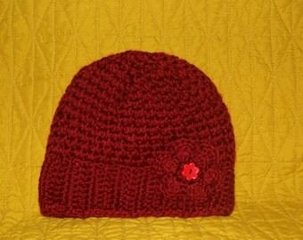 Baby girl hat,hand made hat,crochet,soft yarn