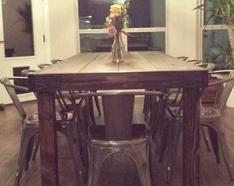 Rustic Plain Farm Table 9ft