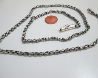 Unisex silver sterling chain.Mens silver chain,Female silver chain,Regalo,Handmade,Handmade silver jewelry