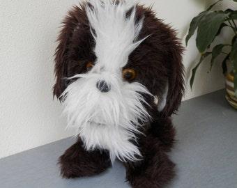 Vintage Toy Furry Dog / Very Old Doggie / Old Furry Dog / Soviet Vintage Dog / Brown Stuffed Dog / Puppies Dog Plush
