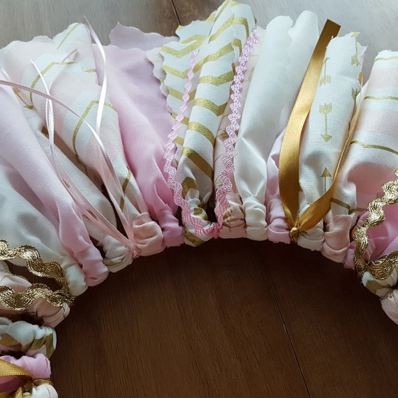 Princess Skirt Tutu Blush Pink and Gold tutu with pink arrows gold arrows fabric tutu Birthday Skirt Smash cake Photos, 1st birthday skirt