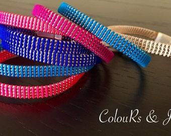 Handmade bracelet, magnetic clasp, chain