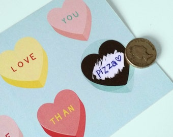 Scratch post card - Candy heart | Cheerfully illustrated