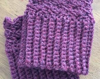 Crochet Boot Toppers, Women's Boot Cuffs - Size Medium