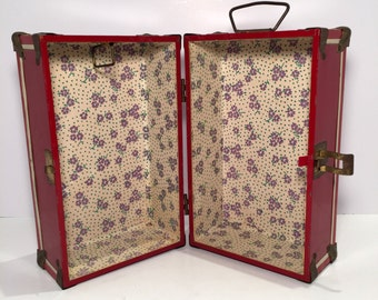 Vintage (1950's) Neevel Doll Case Toy Trunk for Doll Clothes