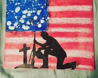 Fallen Soldier Crayon Art