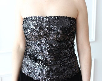 Party, elegant black top, top, top cocktail pallettes, evening tops, stretch tops, gift for her, evening top