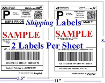 200pcs Half Sheet Self Adhesive Shipping Labels for Laser & Inkjet Printers 100 Sheets