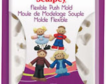 SCULPEY flexible push mold family time apm04 FREE SHIPPING