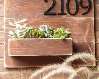 Address planter. Customized to your house number.