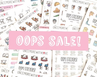 Oopsies Sale! 5 Sheets of Assorted Planner Stickers!