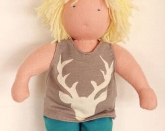 Waldorfdoll-boydoll-handmade doll-waldorf toy-doll-natural material-wool-gift