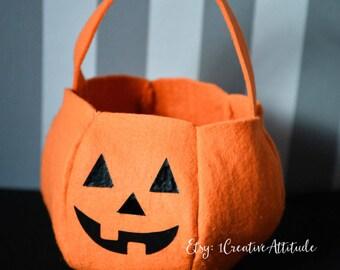 Trick or treat bag, borsa Dolcetto o scherzetto, pumpkin head bag,halloween bag, Jack o'lantern bag,borsa di halloween,halloween