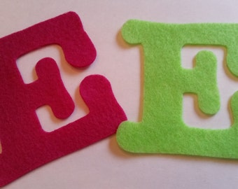 "Large Felt Capital Letters, Craft Letters and Numbers, Felt Alphabet, 3.5"" Die Cut Letters and Numbers"