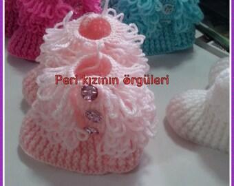 Crochet baby boties