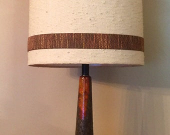 Mid Century Modern Glazed Ceramic Lamp