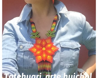 Huichol art artisan necklace