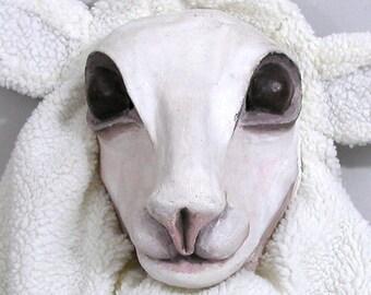 HANDMADE SHEEP MASK